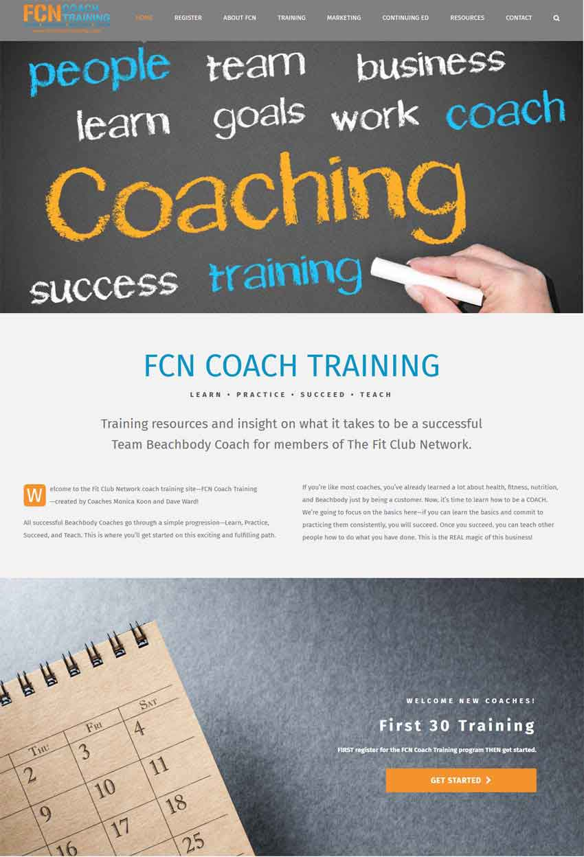 Team Training Website Design | Scribaceous.com