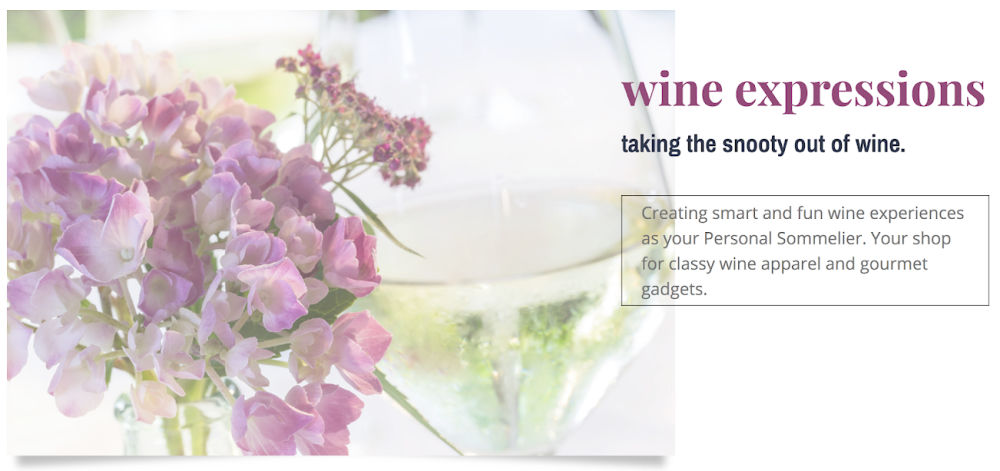 One Page Business Website for Wine Expressions | SCRIBACEOUS.COM