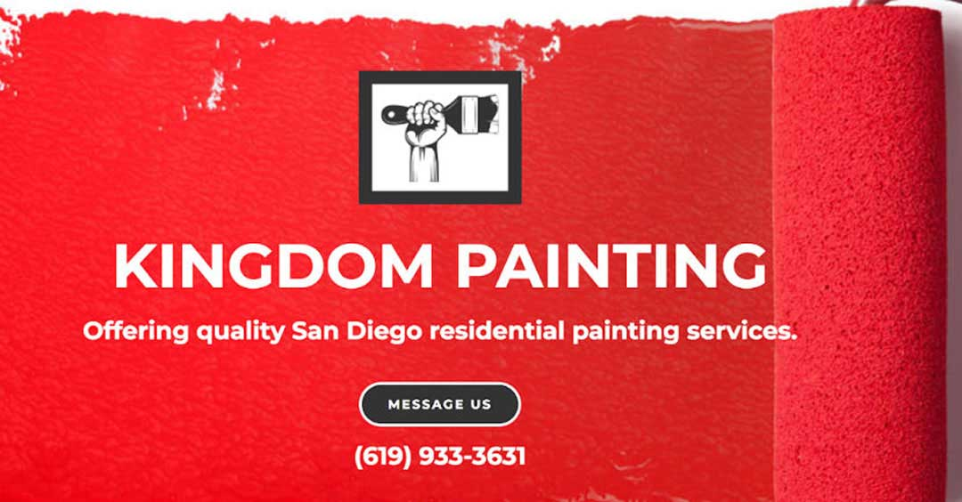 Simple House Painter Website for Kingdom Painting | SCRIBACEOUS.COM