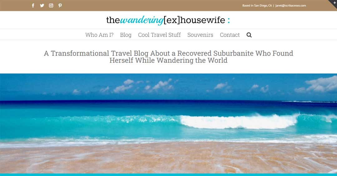 A Travel Blog built with the Avada Wordpress Theme | SCRIBACEOUS.COM